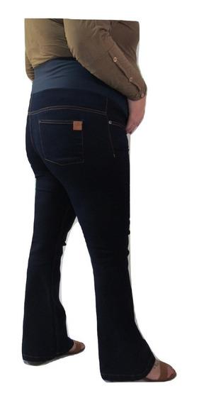 Calça Flare Gestante Gravida Jeans - 3 Cores - 38 Ao 48 - Se Compra 2 Peças A Terceira É De Graça!!