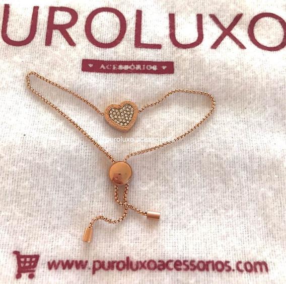 Pulseiras/braceletes Michael Kors Strass Coração