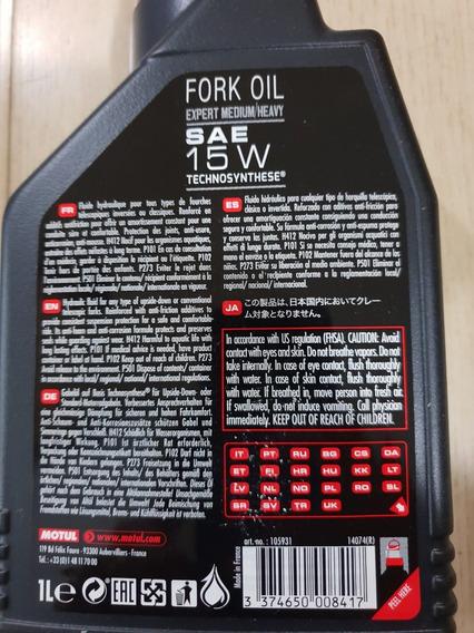 Óleo Suspensão P/ Motos Motul Fork Oil Expert Medium 15w 1lt