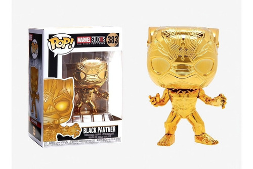 Funko Pop 10th Anniversary Black Panther (gold Chrome)