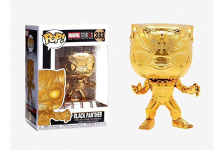 Funko Pop 10th Anniversary Black Panther (gold Chrome)