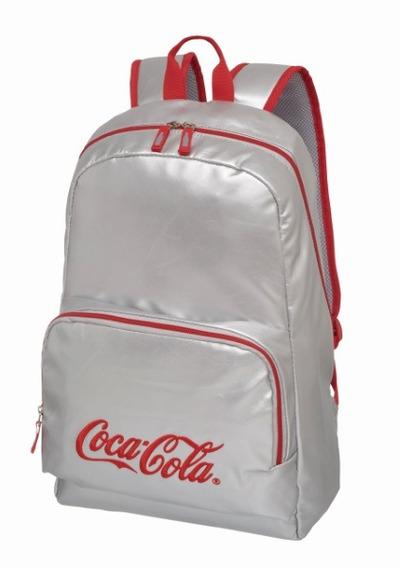 Mochila Coca Cola Silver Prata