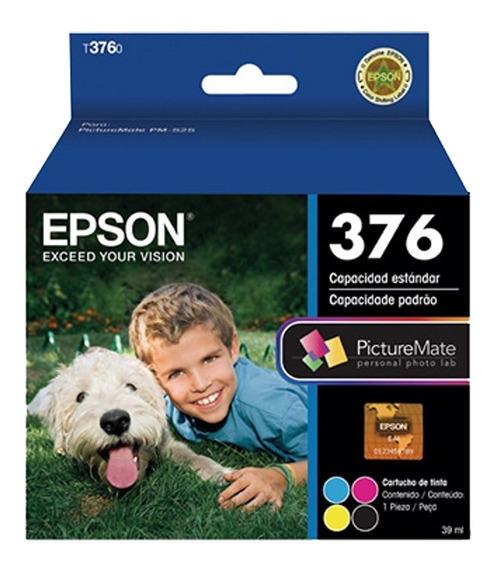 02 Cartuchos Epson Pm525 - 4 Cores - T3760 Ou T376 Original