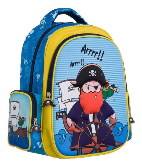 Mochila Infantil Tubarão Ou Pirata Tam P - Convoy (ys42014 )