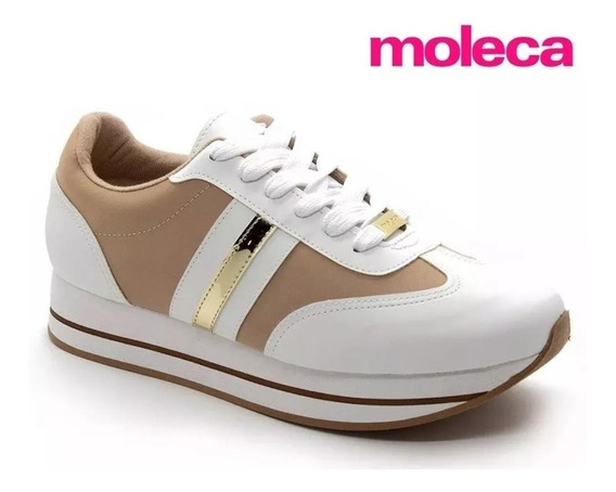 Tênis Sapato Casual Feminino Moleca 5627-110 - Promoção