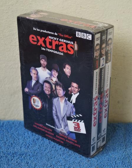Extras. Segunda Temporada 3 Dvds. Nueva, Sellada De Fábrica.