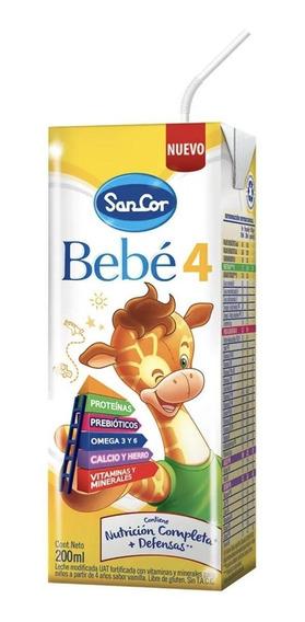 Leche de fórmula líquida Mead Johnson SanCor Bebé 4 sabor vainilla por 90 unidades de 200mL