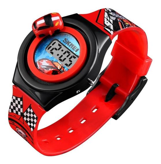 Reloj Skmei 1376 Niños Infantil Moda Carro Giratorio