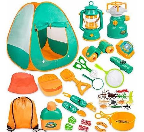 Juego De Camping Para Niños Con Tienda De Campaña 24 Piezas