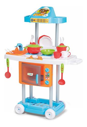 Cozinha Infantil Completa Pia + Fogãozinho + Forno Riva Chef