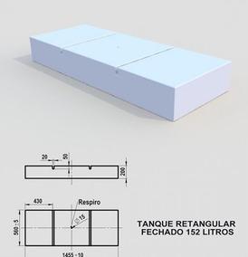 Caixa Dagua Retangular Em Polipropileno 152 Litros