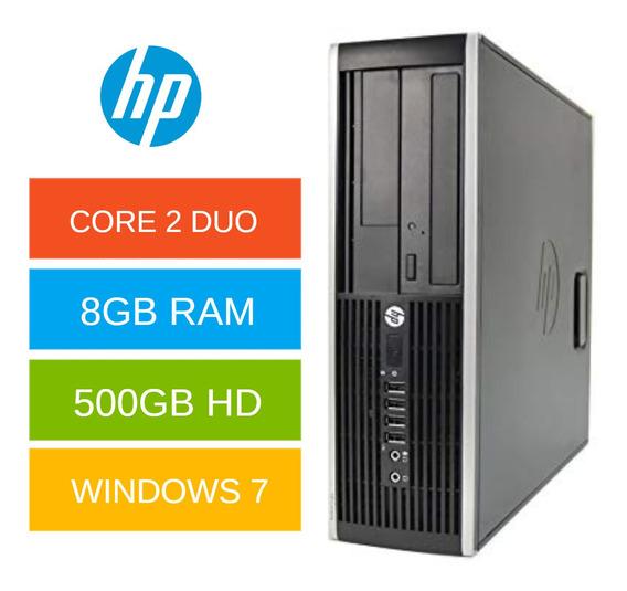 Pc Hp Core 2 Duo 8gb Win 7 Hd 500gb + Office Brinde