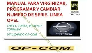 Manual Para Programar Computadora Linea Opel Chevrolet Opcom