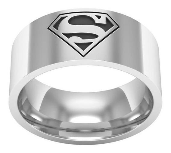 Anel Superman Masculino Prata Dc Comics