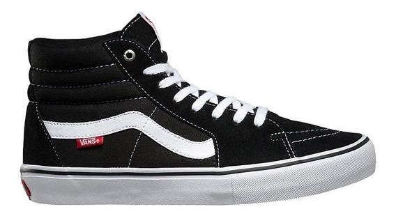 Tênis Vans Sk8 Hi Pro Black White