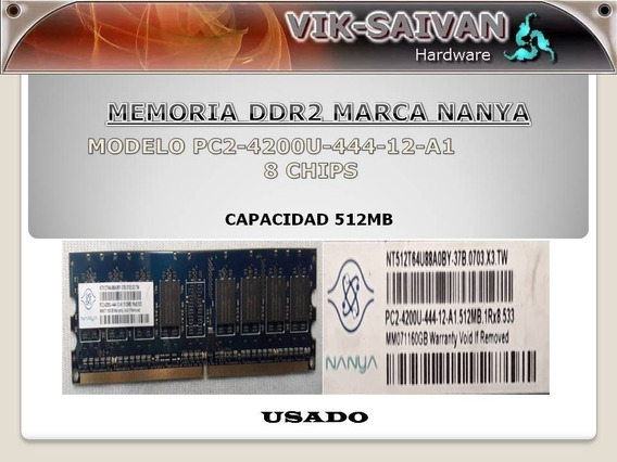 Memoria Ddr2 Nanya 512mb Pc2-4200 533mhz 8 Chips 39