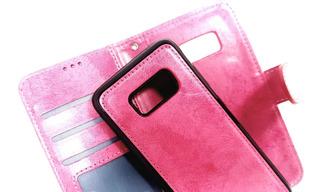 Funda Flip Cover Desmontable Para Samsung S8 Plus Fucsia