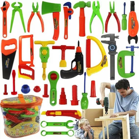 Brinquedo Educativo Ferramentas 32 Peças