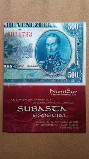 Catálogo De Subasta 21 Convención Numismatica Caracas 2015