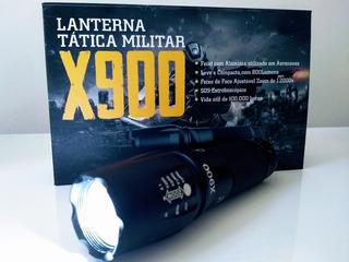 Lanterna Led X900 Recarregável Luz Mais Potente Forte