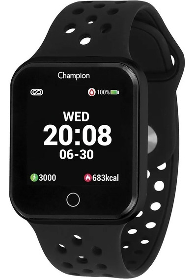 Relógio Champion Smartwatch Preto Digital Ch50006p Bluetooth