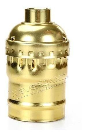 Soquete E27 Antigo Bocal Retro Vintage Dourado Ouro