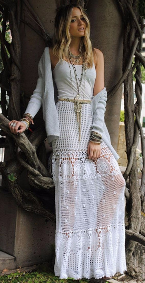 Falda Larga A Crochet