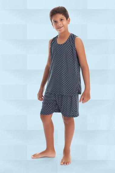 2 Unidades Pijama Liganete Camiseta Regata Liso E Estampado Infantil Revenda Atacado