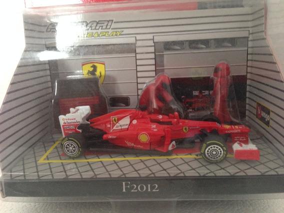 Miniatura F1 Ferrari 2010 E 2012 Marca Bburago Escala 1/43