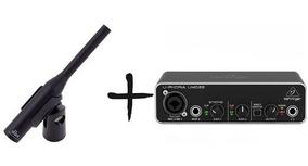Microfone Condensador Rta Dbx + Interface Umc22 Original Nf