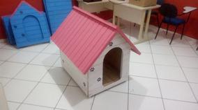 Casinha De Cachorro Rosa E Branco