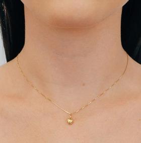 Pingente Coração Em Ouro 18 Quilate Vivarjoias M09