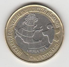 Moeda 1 Real 1998 Comemorativa Direitos Humanos - Fc - Dh Fc