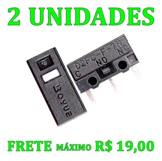 2x Micro-switch D2fc-f-7n 10m Omron Todos Os Mouses Original