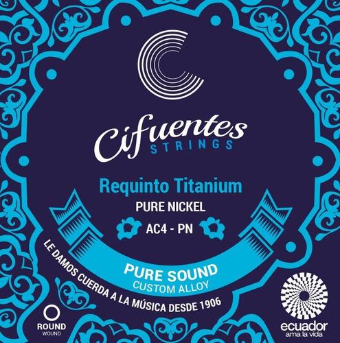 Cuerdas Requinto Pro Titanium & Pure Nickel Cifuentes Ac4-pn
