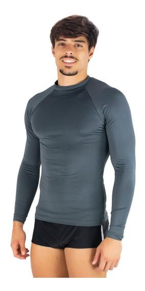 Kit 4 Camisa Térmica Masculina Segunda Pele Praia Uv Surf