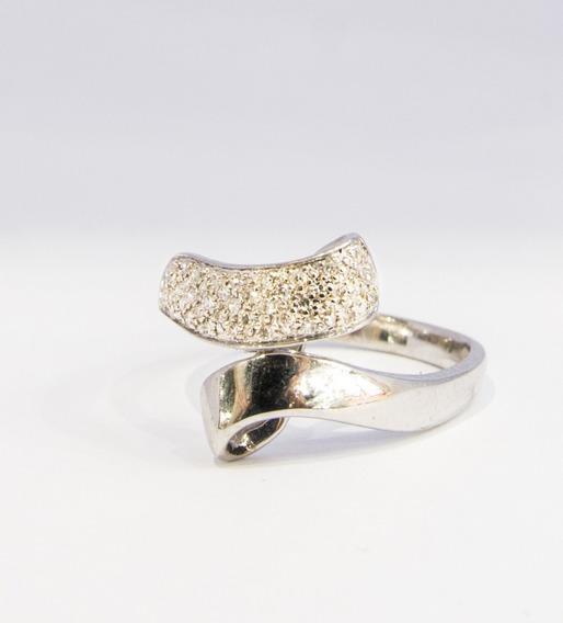Anillo Oro Blanco 14k Diamante 0.30 Ct