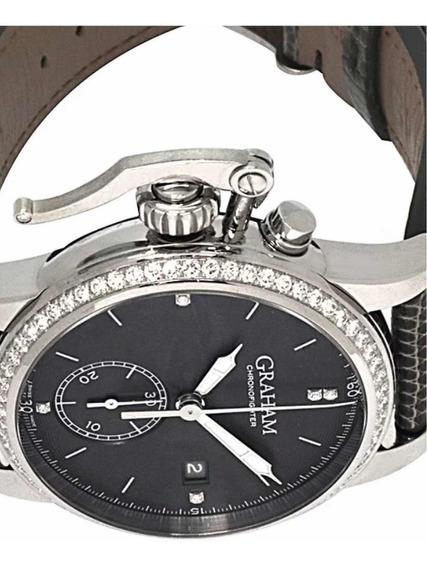 Relógio Graham Chronofighter 1695 Diamond Chrono Unisex Novo
