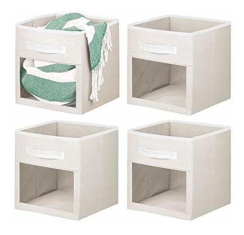 Imagen 1 de 2 de Mdesign Soft Fabric Closet Storage Organizer Cube With Front