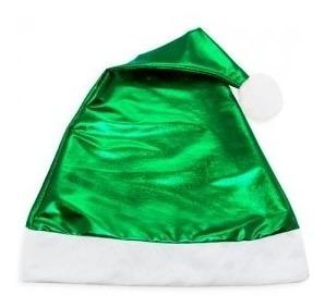 Gorro Navideño Verde Metálico Posada Navidad