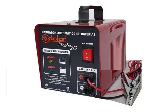 Cargador De Batería Automático Master 20 ( De Flote ) Inteligente Se Puede Dejar Las 24 Hs Conectado Marca Dolar Ind Arg