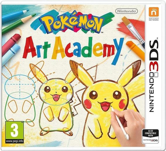 Pokémon Art Academy - 3ds Lacrado Mídia Física
