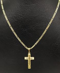 Corrente Masculino Banhada Ouro 18k Cordão 70cm + Pingente