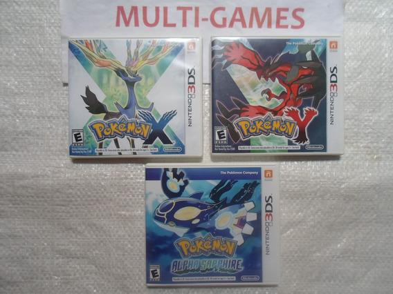 Pokémon X + Pokémon Y + Pokémon Alpha Sapphire Nintendo 3ds.