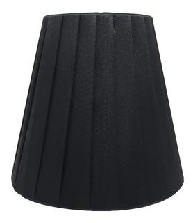 Cupula Prega Preta Para Lustre Arandela Lampada Vela Ef4487