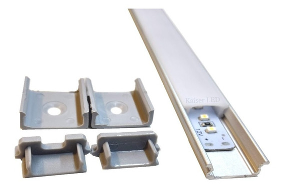 Perfil De Aluminio Para Tira De Led 1 Metro Ideal Bajo Alacena 3528 5050 5630 2835 Kaiser Led