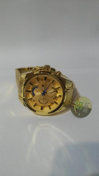 Relógio Masculino Smart Fundo Dourado Pronta Entrega