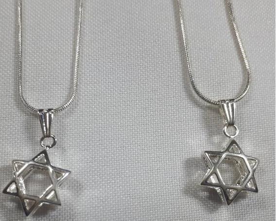 Gargantilha/colar/corrente Com Pingente Estrela De Davi