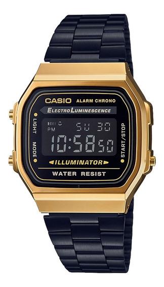 Relógio Casio Vintage Unissex Digital A168wegb 1bdf Dourado
