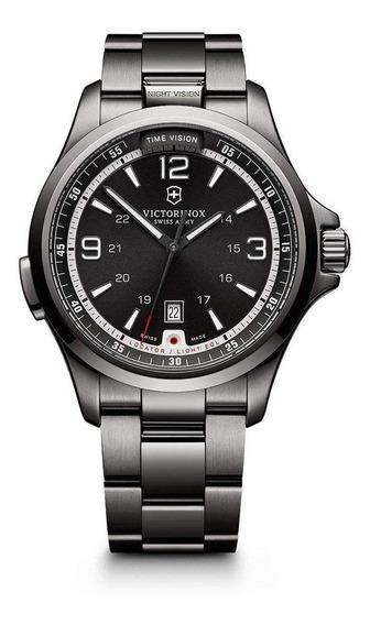 Relógio Victorinox 241665 Night Vision Aço All Black Origina